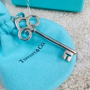 Tiffany & Co. 925 Silver Fleur De Lis Key Necklace
